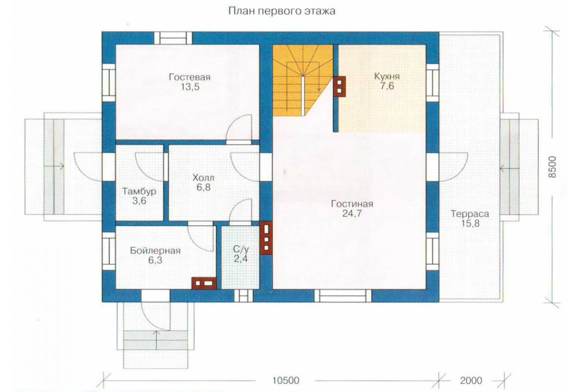 План N1 проекта каркасного дома АСД-1384