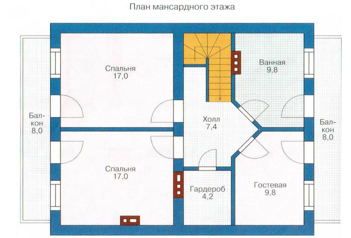 План N2 проекта каркасного дома АСД-1384