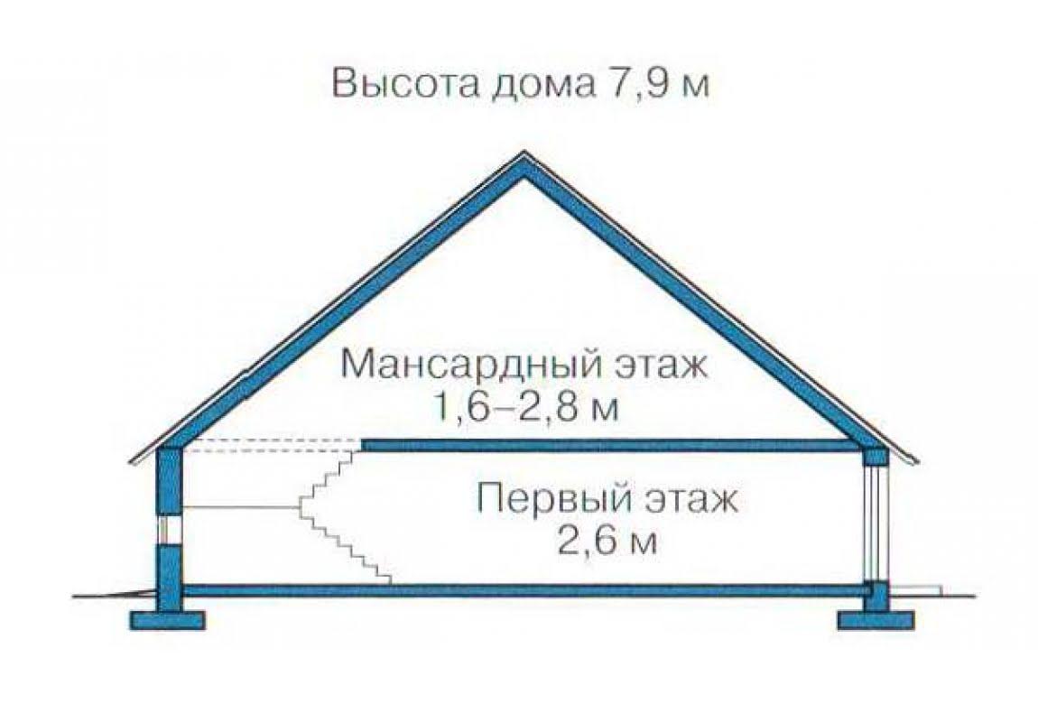 План N3 проекта каркасного дома АСД-1384