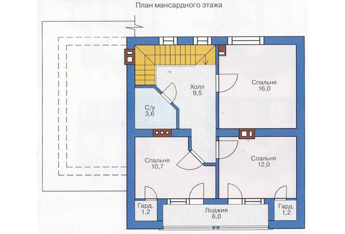 План N1 проекта каркасного дома АСД-1385