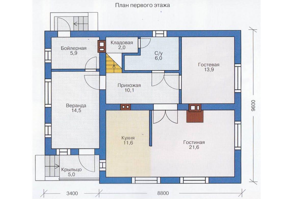 План N2 проекта каркасного дома АСД-1385
