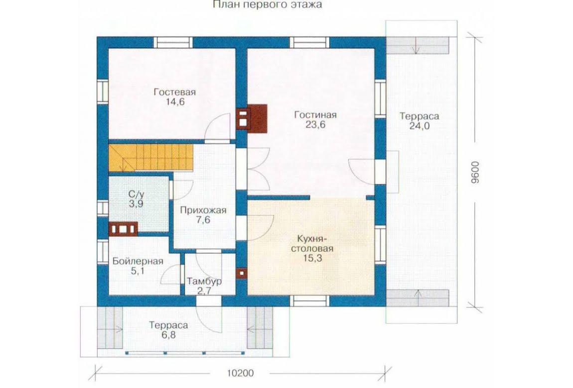 План N1 проекта каркасного дома АСД-1386