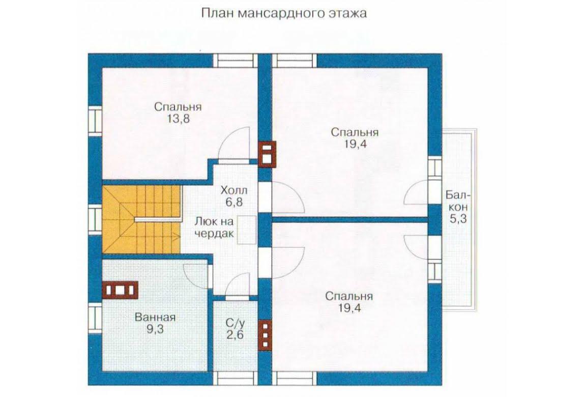 План N2 проекта каркасного дома АСД-1386