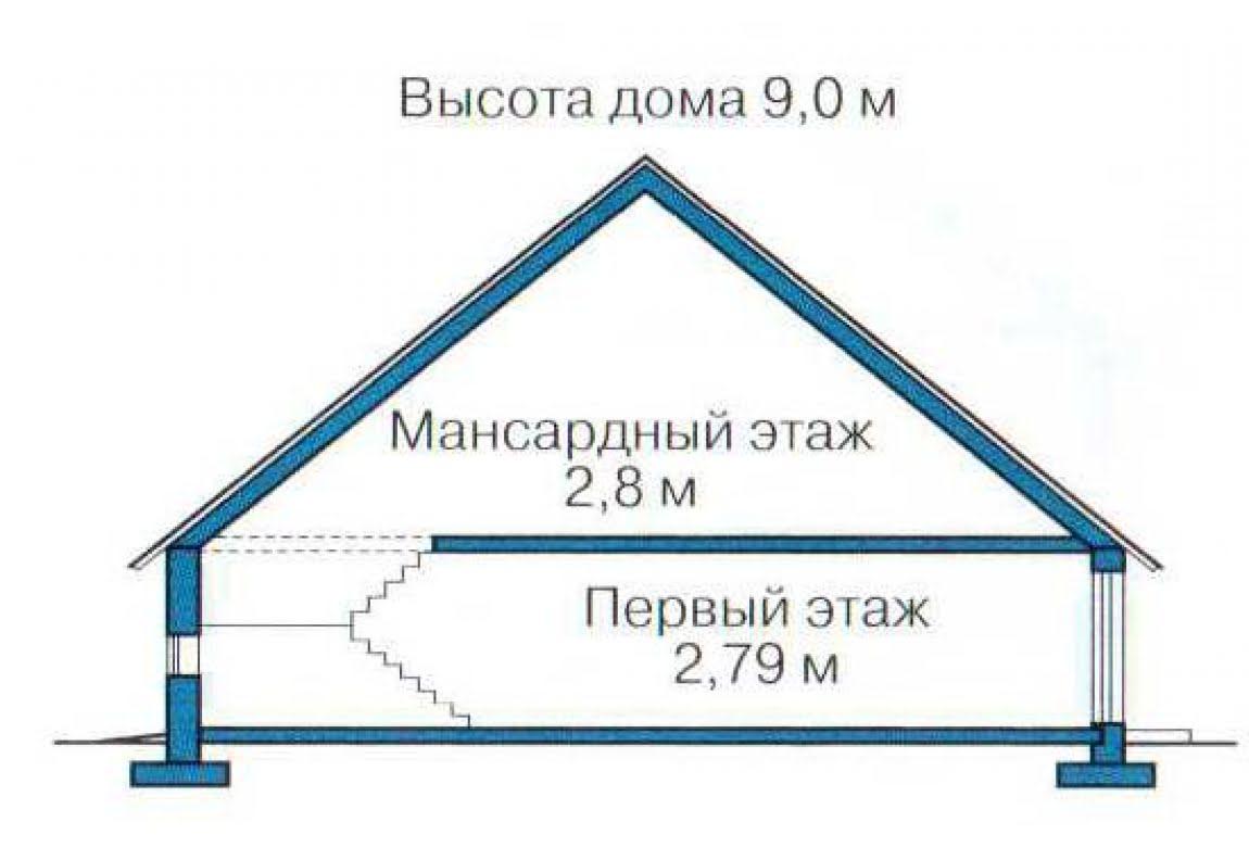 План N3 проекта каркасного дома АСД-1386
