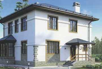 Каркасный дом АСД-1387