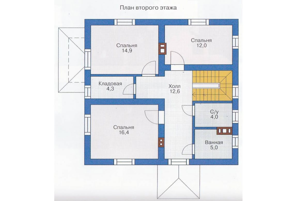 План N1 проекта каркасного дома АСД-1387