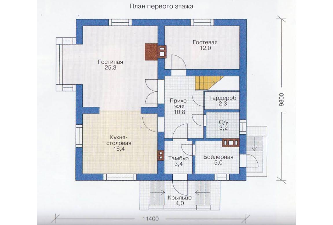 План N2 проекта каркасного дома АСД-1387