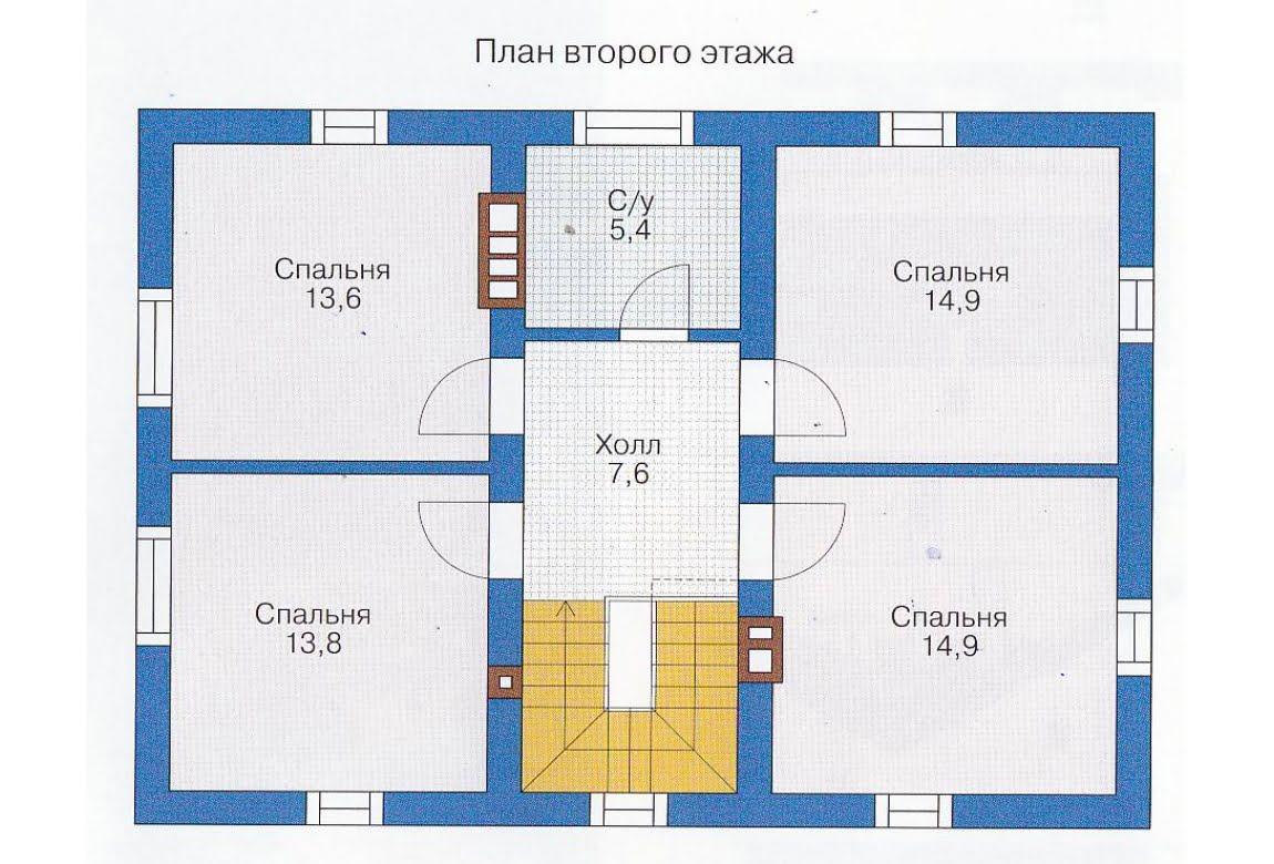 План N1 проекта каркасного дома АСД-1389