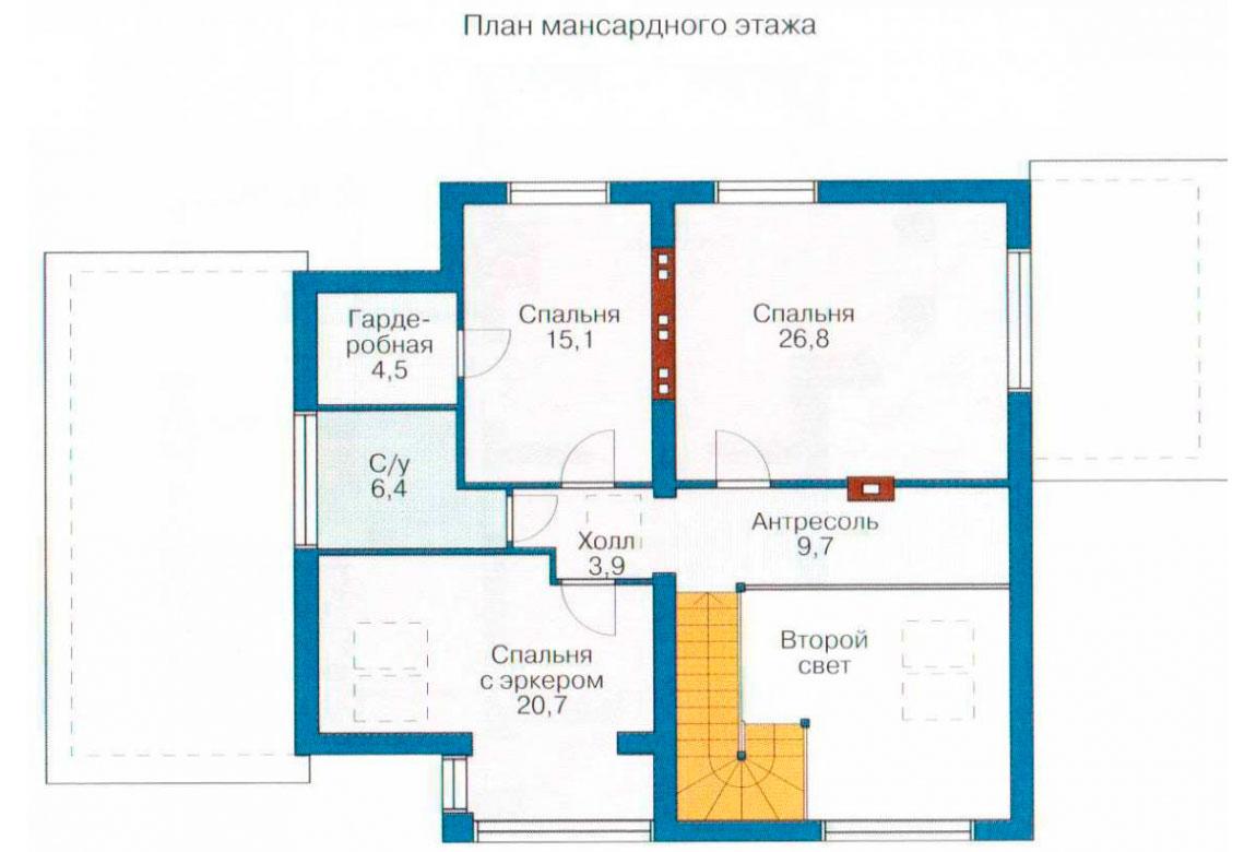 План N1 проекта кирпичного дома АСД-1039
