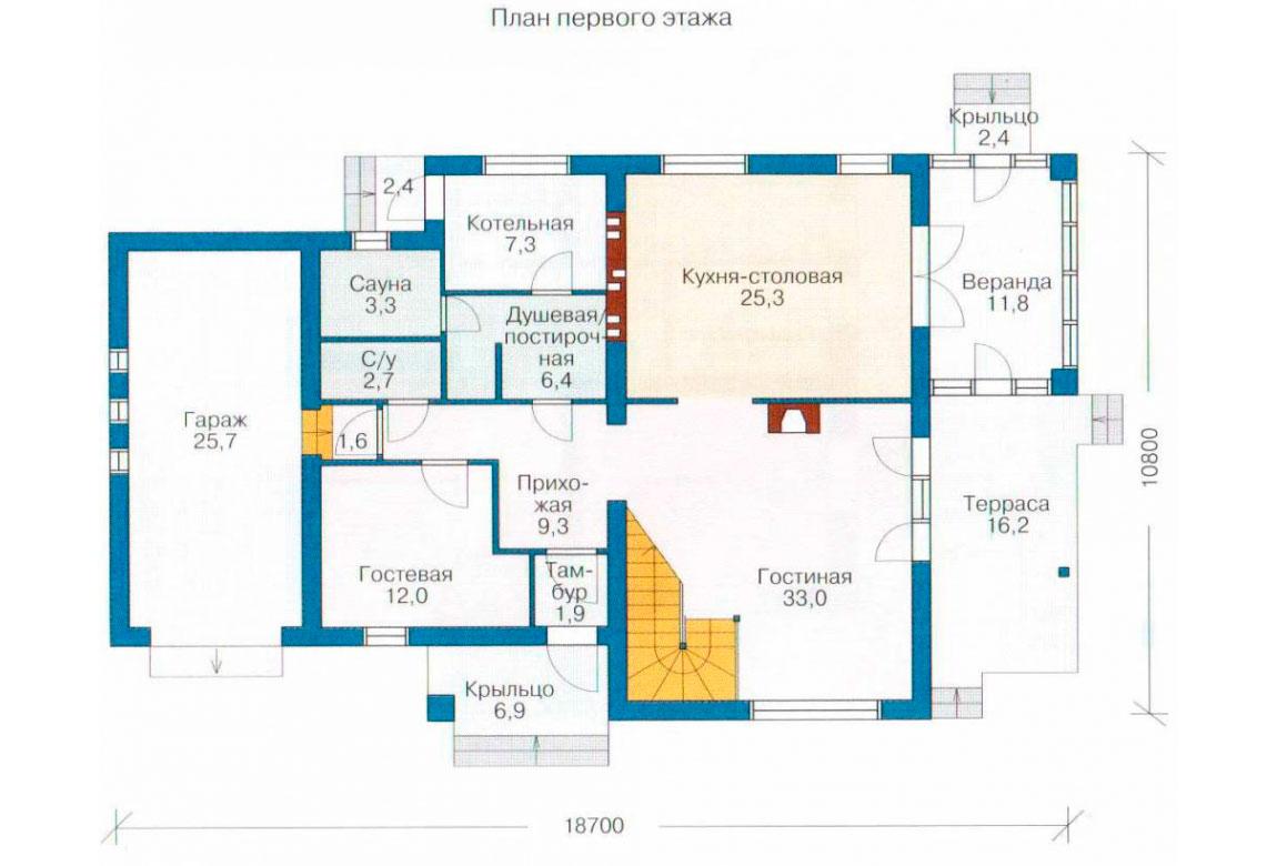 План N2 проекта кирпичного дома АСД-1039