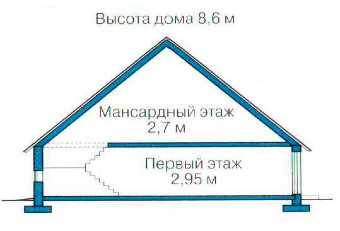 План N3 проекта кирпичного дома АСД-1039