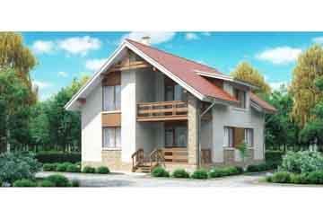 Каркасный дом АСД-1390