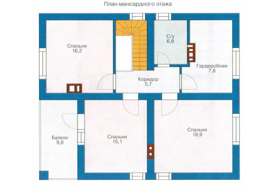 План N2 проекта каркасного дома АСД-1390