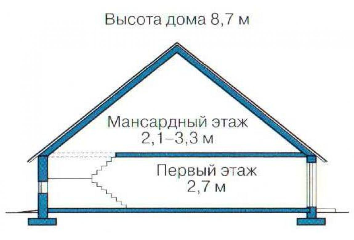 План N3 проекта каркасного дома АСД-1390