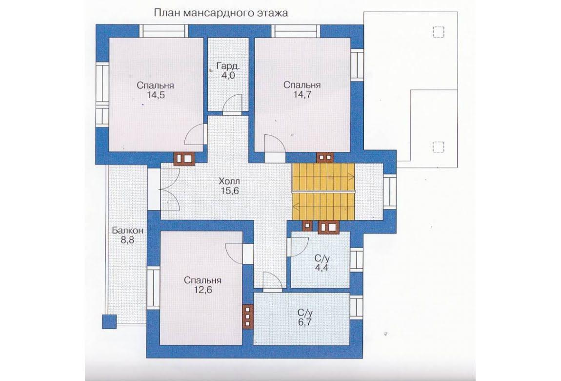 План N1 проекта каркасного дома АСД-1391