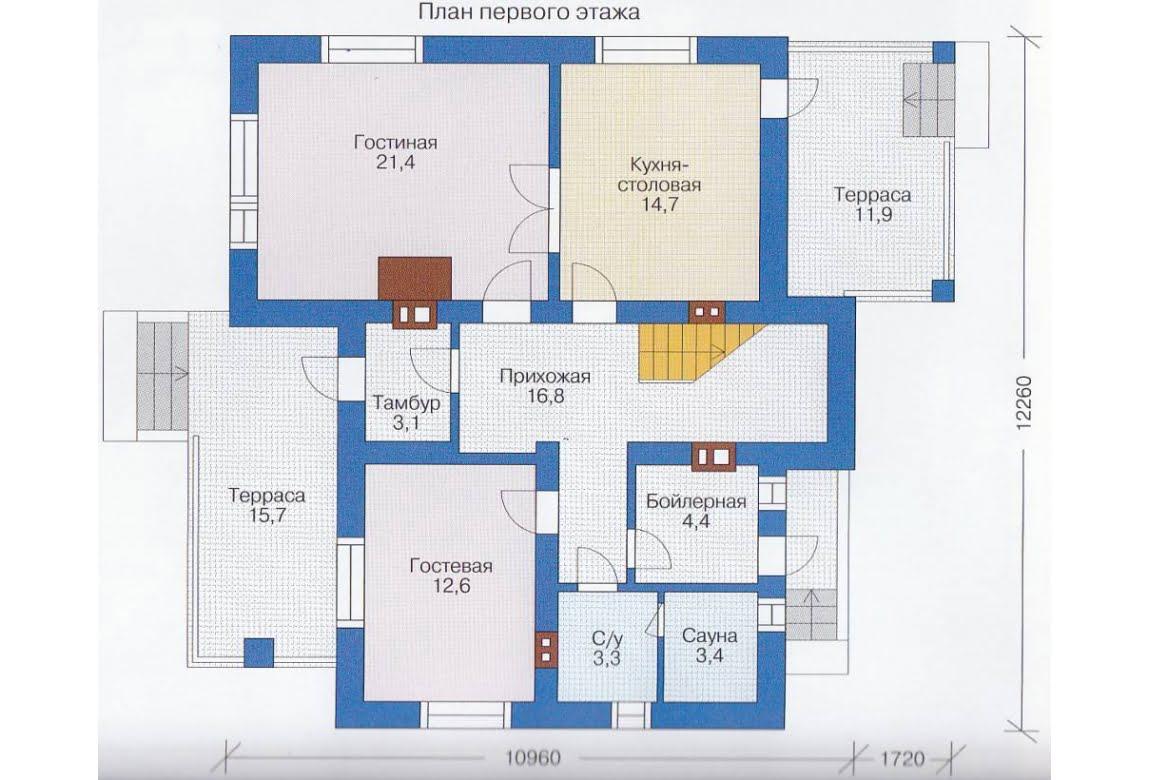 План N2 проекта каркасного дома АСД-1391