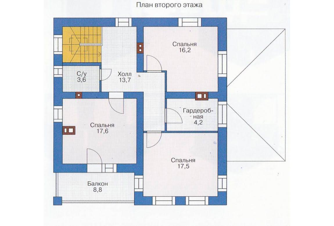 План N1 проекта каркасного дома АСД-1392