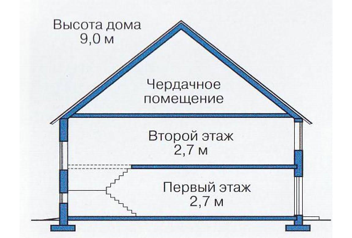 План N3 проекта каркасного дома АСД-1392