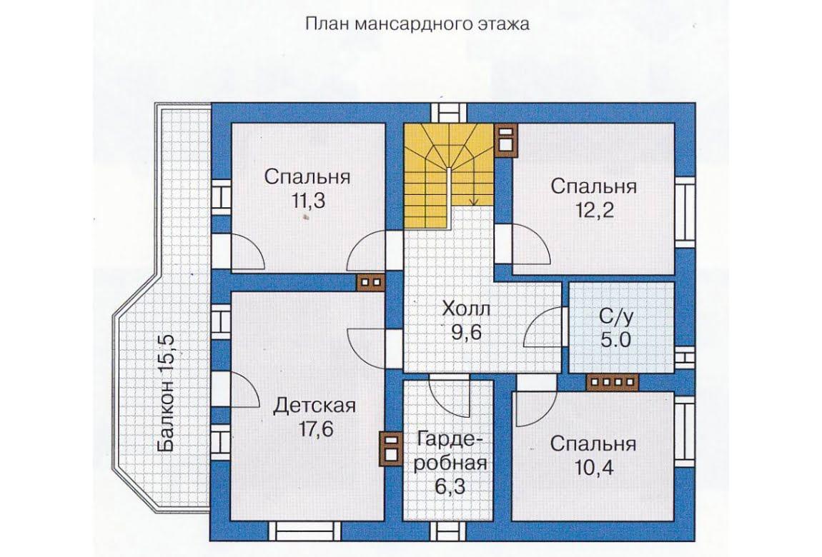 План N1 проекта каркасного дома АСД-1393