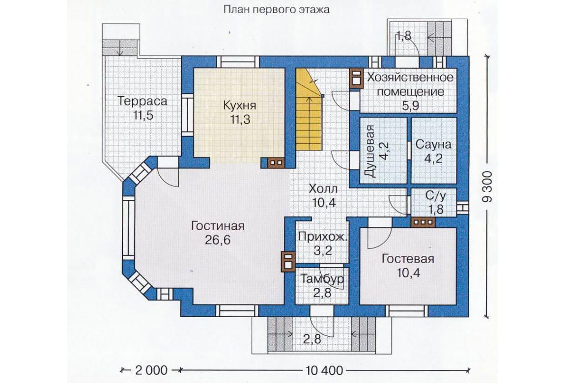 План N2 проекта каркасного дома АСД-1393