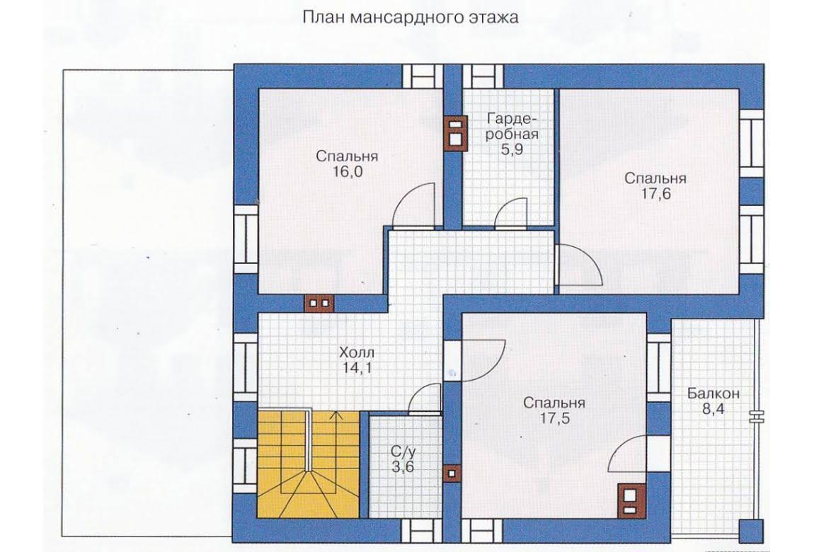 План N1 проекта каркасного дома АСД-1394