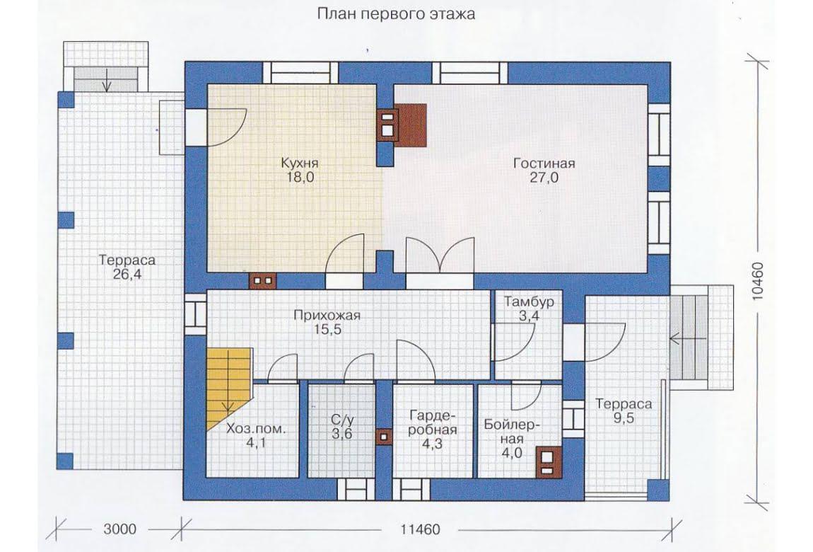 План N2 проекта каркасного дома АСД-1394