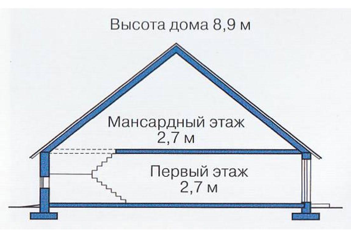 План N3 проекта каркасного дома АСД-1394
