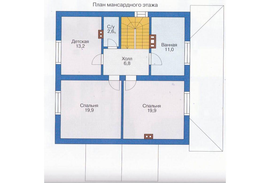 План N1 проекта каркасного дома АСД-1395
