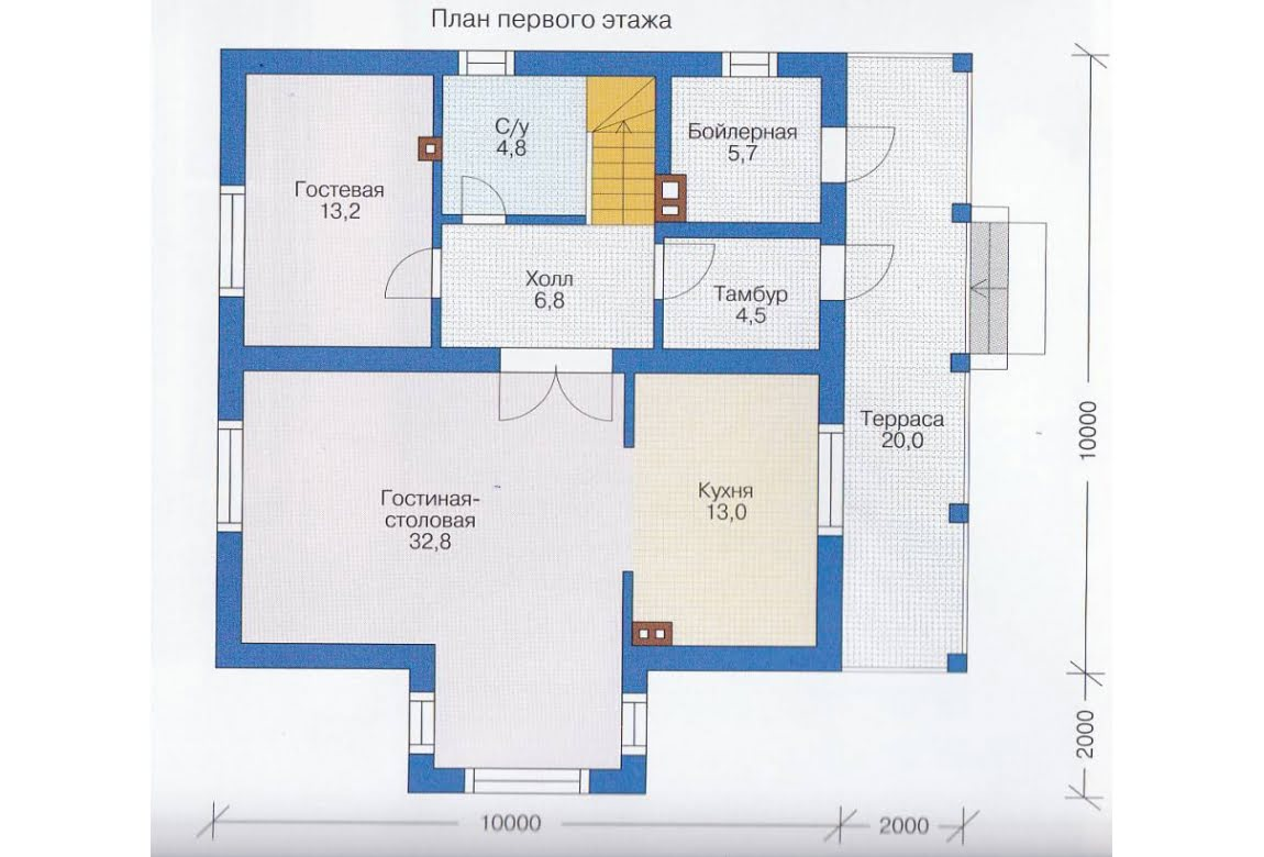 План N2 проекта каркасного дома АСД-1395