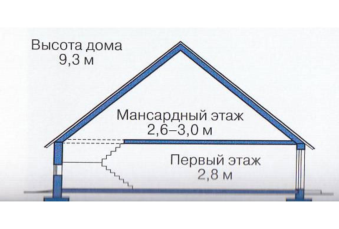 План N3 проекта каркасного дома АСД-1395