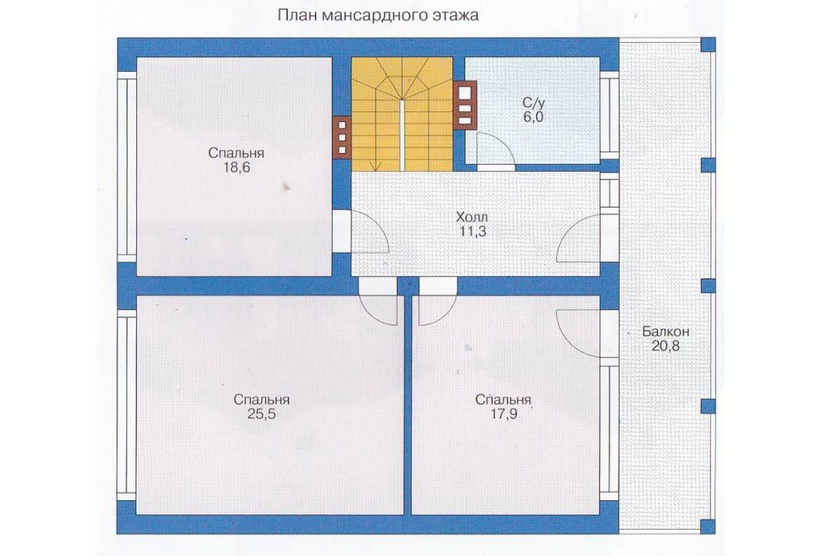 План N1 проекта каркасного дома АСД-1396