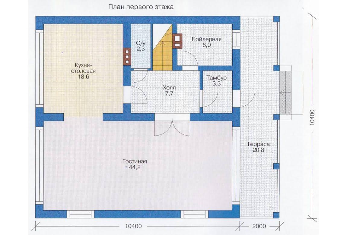 План N2 проекта каркасного дома АСД-1396