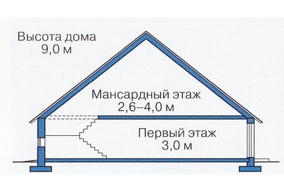 План N3 проекта каркасного дома АСД-1396