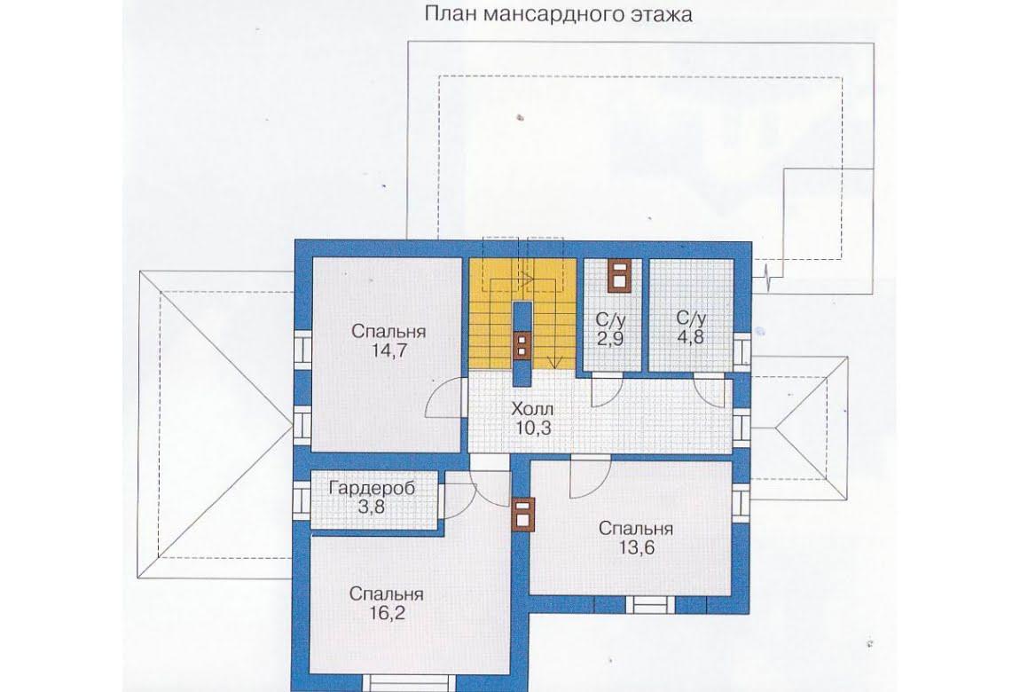 План N1 проекта каркасного дома АСД-1397