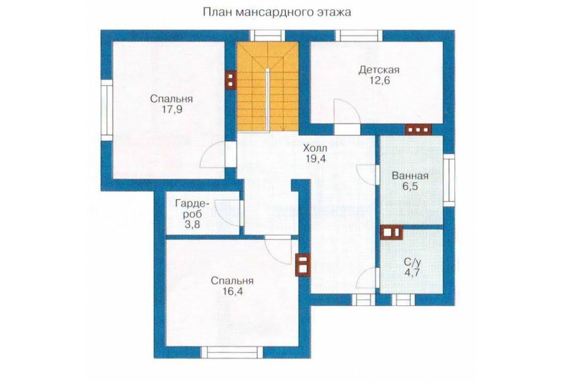 План N2 проекта каркасного дома АСД-1398