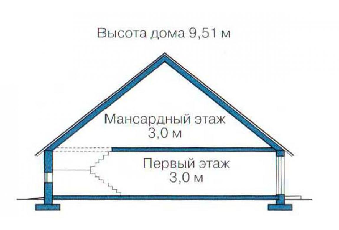 План N3 проекта каркасного дома АСД-1398