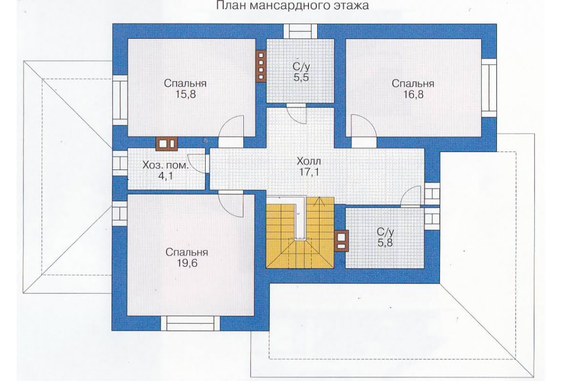 План N1 проекта каркасного дома АСД-1399