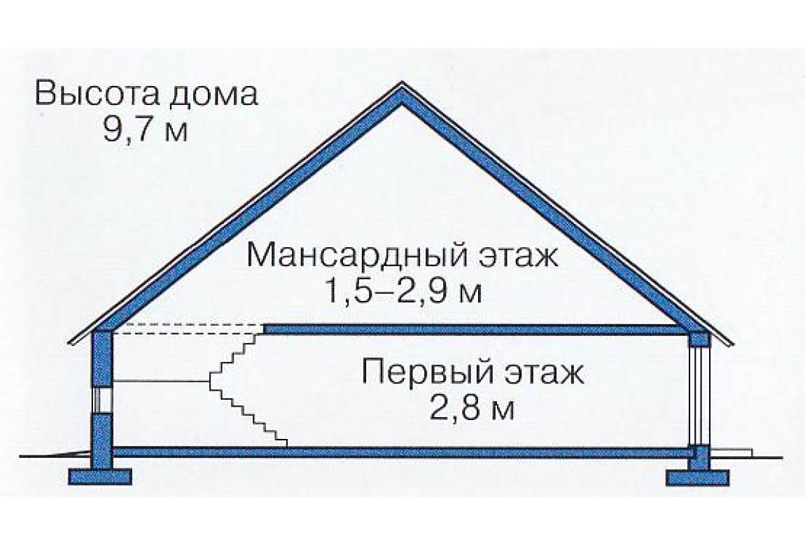 План N3 проекта каркасного дома АСД-1399