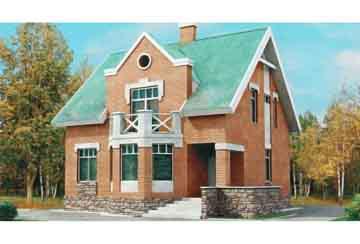 Проект кирпичного дома АСД-1004