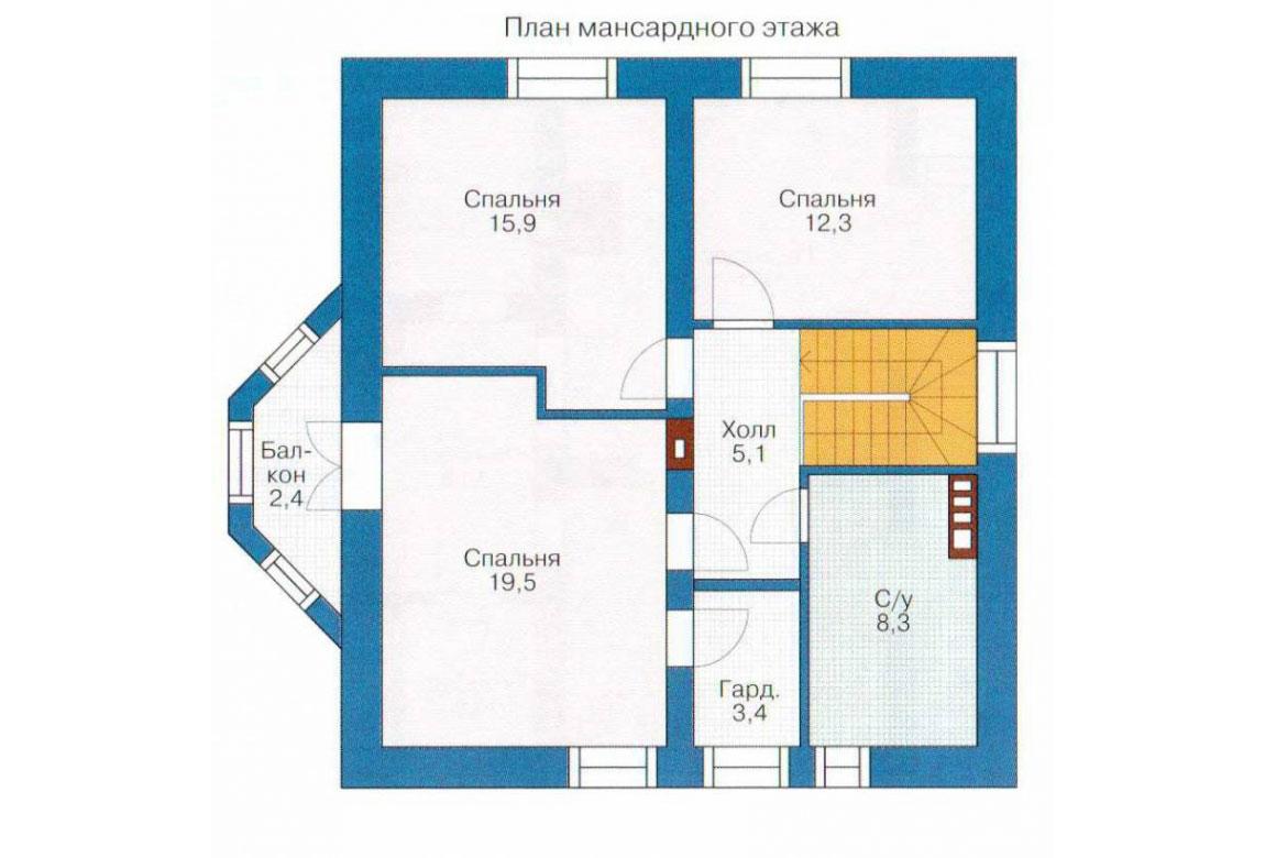 План N1 проекта кирпичного дома АСД-1004