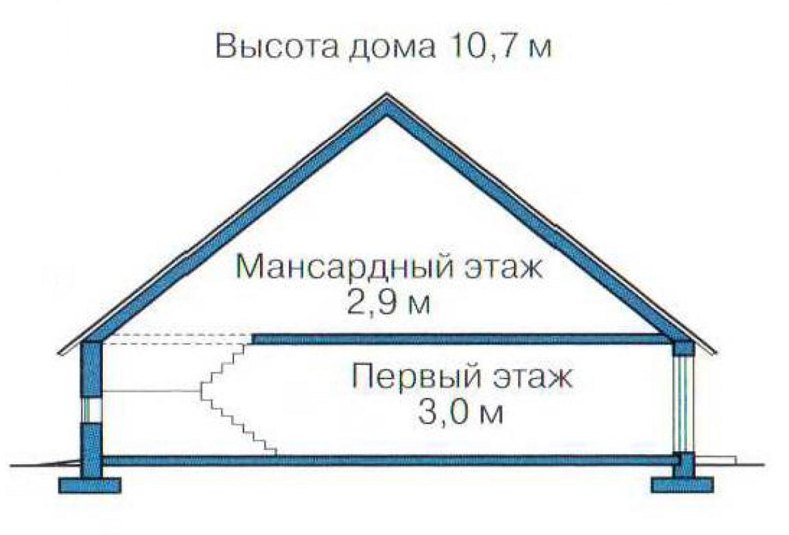 План N3 проекта кирпичного дома АСД-1004