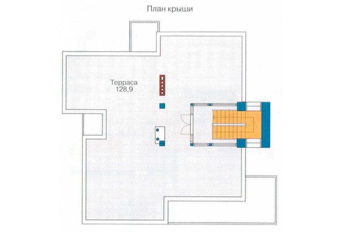 План N1 проекта кирпичного дома АСД-1040