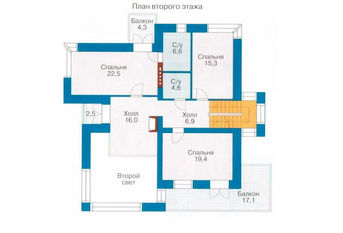 План N2 проекта кирпичного дома АСД-1040