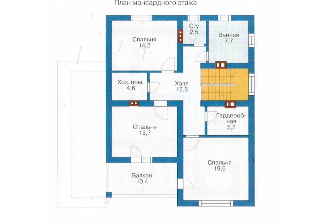 План N2 проекта каркасного дома АСД-1400