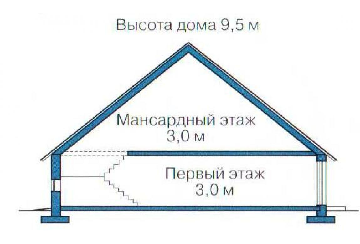 План N3 проекта каркасного дома АСД-1400