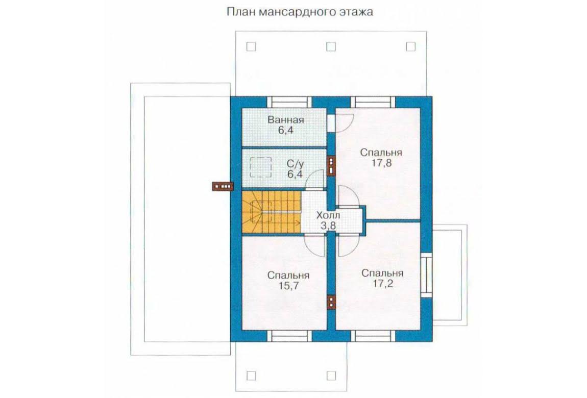 План N2 проекта каркасного дома АСД-1401