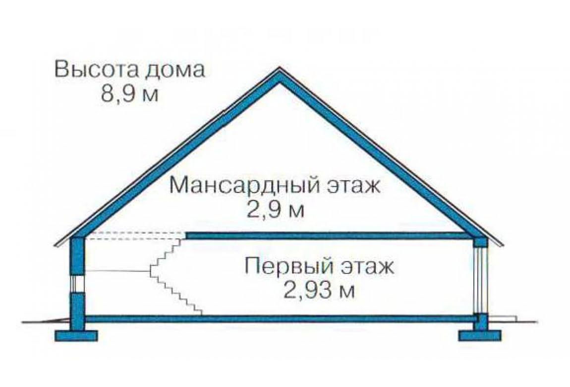 План N3 проекта каркасного дома АСД-1401