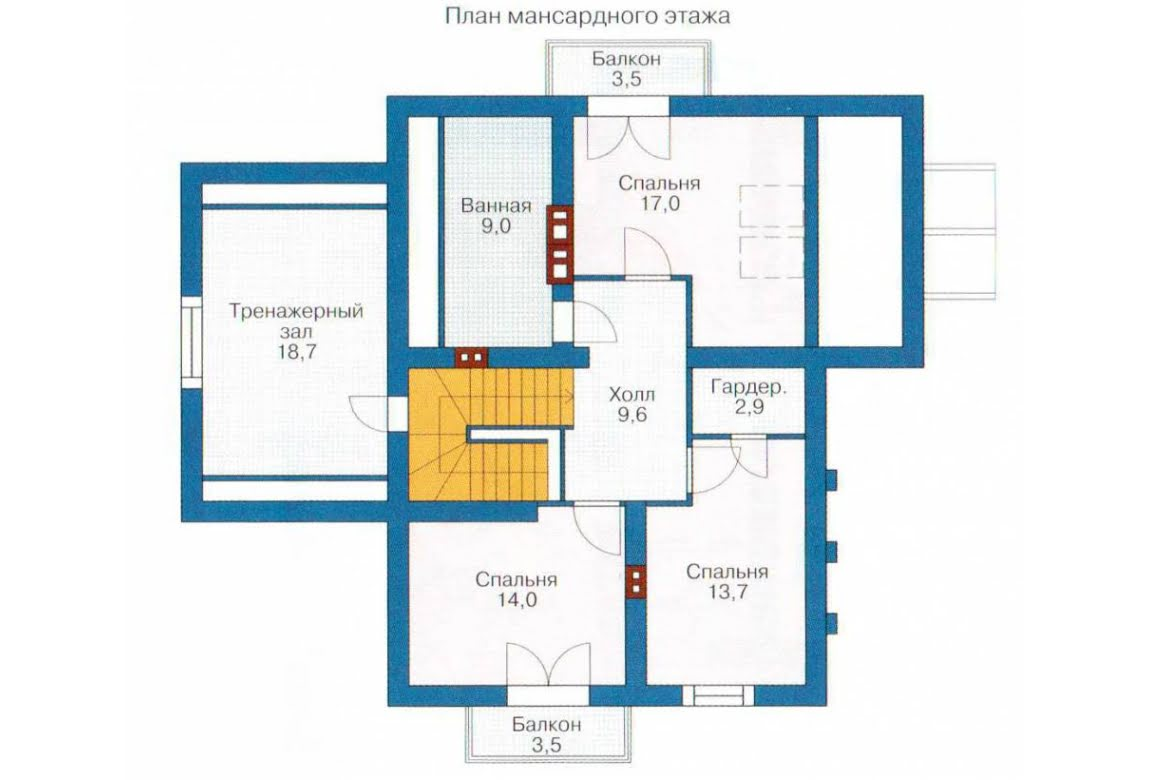 План N2 проекта каркасного дома АСД-1402