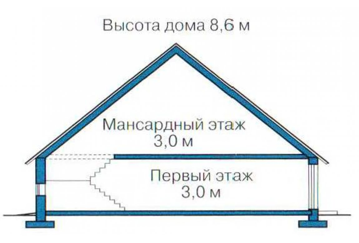 План N3 проекта каркасного дома АСД-1402