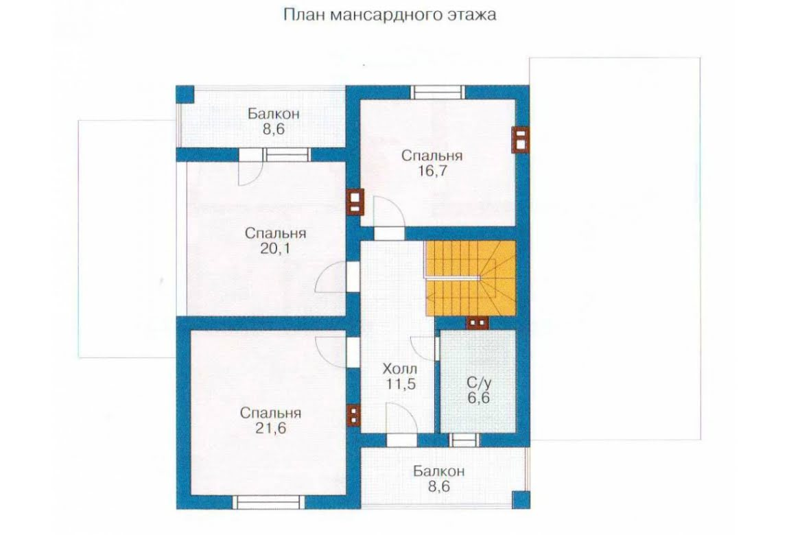 План N2 проекта каркасного дома АСД-1403